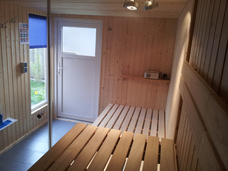 sauna ferienhaus kiterkoje in sankt peter ording. Black Bedroom Furniture Sets. Home Design Ideas
